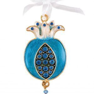 Enameled pomegranate wall hanging
