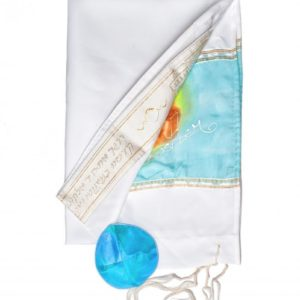 Hand Painted Silk Tallit for Women