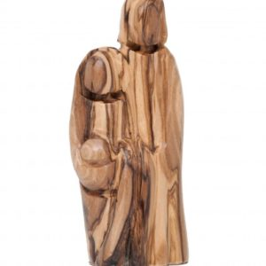 Olive Wood Holy Family Figurine