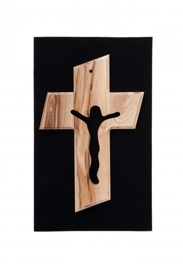 Small Size Olive Wood Cross