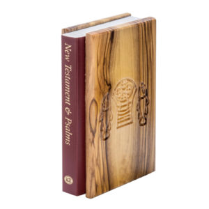 The New Testament and Psalms, olive wood cover with Tabgha ornament
