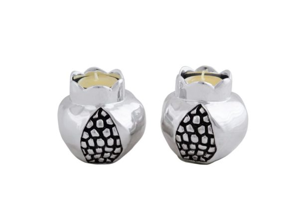 Silver Plated Pomegranate candle holder