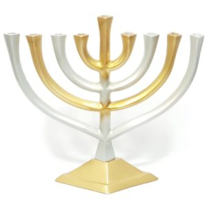 Hanukkiah, Silver and Golden colors