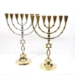 Grafted-in Brass Menorah
