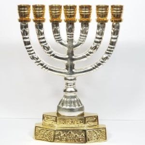 Silver-plated Jerusalem Menorah