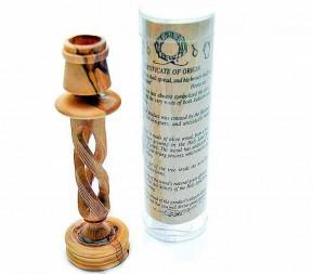 Olive Wood Candlestick