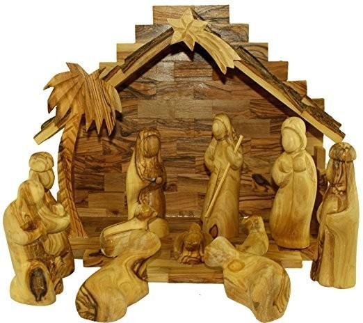 Olive Wood Christmas Nativity