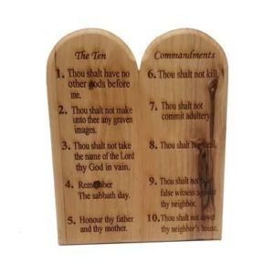 Olive Wood Ten Commandments