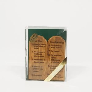 Olive Wood Tablets with the 10 Commandments