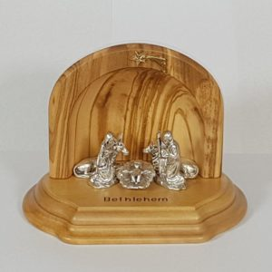 Olive wood small Nativity Scene