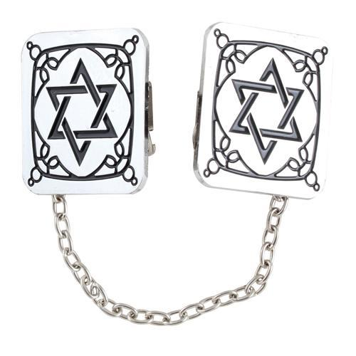 Nickel Tallit Clip set with Chain