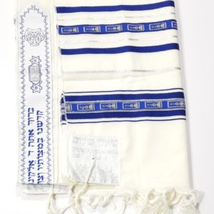 Jerusalem Grafted-in Tallit, 100% Wool