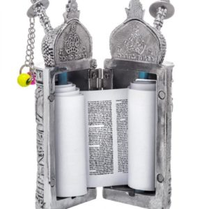 Silver plated Torah scroll