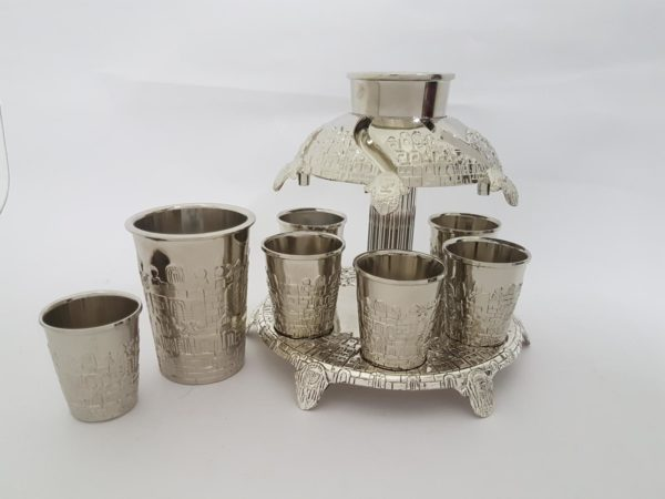 Silver plated wine sommelier for kiddush