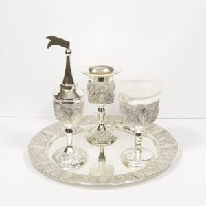 Silver-plated Havdalah set