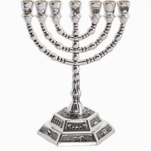 12 tribes Menorah, small