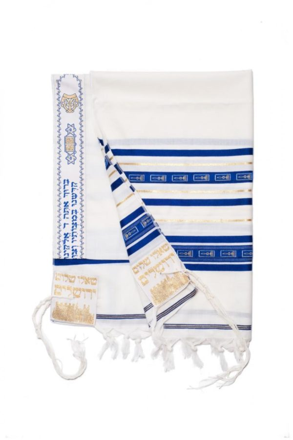 Grafted-in Tallit, 100% Wool