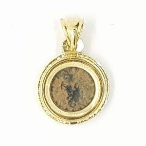 Byzantine Coin Depicting a Cross in a 14K-Gold Pendant