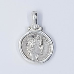 """Tribute Penny"" Silver Coin Set in a Sterling Silver Setting"
