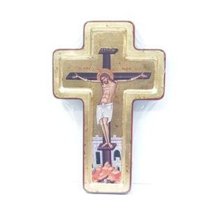 Cross-shaped Crucifix Icon from the Holy Land