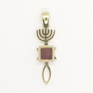 14K Gold Grafted-in Pendant with Nano-Bible