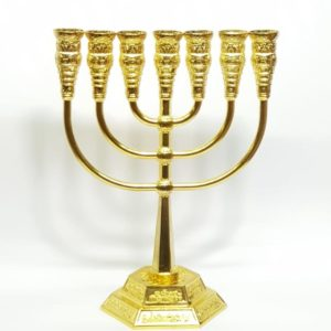 Temple-style Menorah – Gold